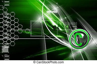 Copy right symbol - Digital illustration of copy right...