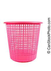 a pink dumpster