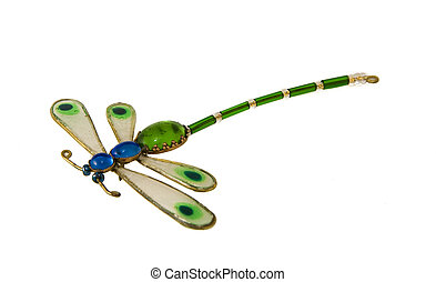 Dragonfly - Glass dragonfly - brooch, jewelery
