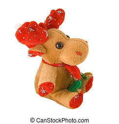 Deer decoration - Deer toy - profile isolated on white...