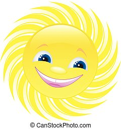 cheerful sun