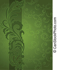 Green background with ornament