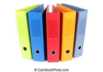 Multi-colored folders