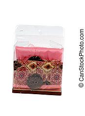 a glove box of tissues