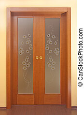 Sliding doors with painted glass - Doors with painted glass...