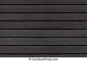 Wooden weatherboards - Wood black stained weatherboards...