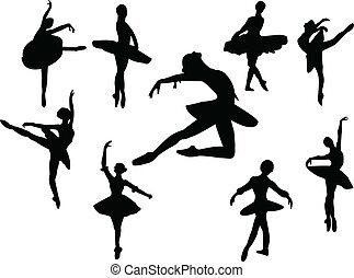 ballerinas silhouette - Collection of ballerinas silhouette...