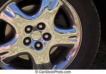 car wheel rim bright