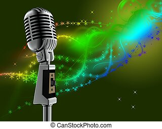 microphone - 3d illustration of retro microphone