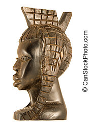African statuette - Handmade ebony african statuette of a...