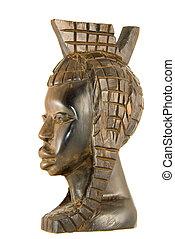 Ebony statuette - Handmade ebony african statuette of a...