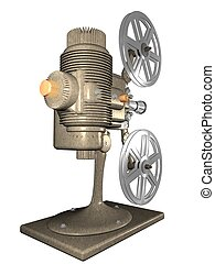 projector - digital illustration of a vintage projector