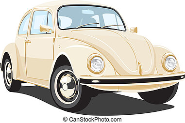 Vintage car - Vector isolated vintage car without gradients