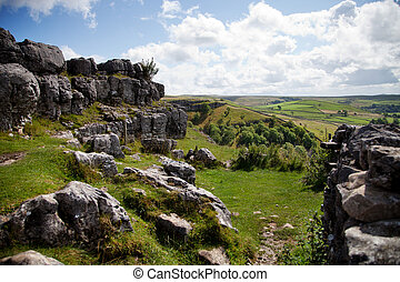 Beautiful landscape in Yorkshire Dales National Park in...