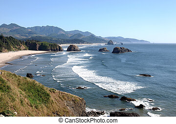 Ecola state park, Oregon coastline - Oregon coastline from...
