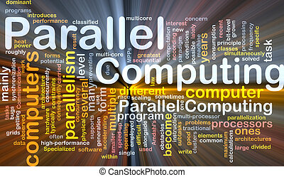 Parallel computing background concept glowing - Background...