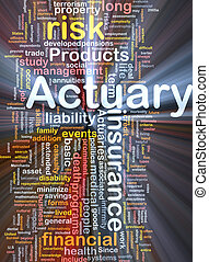Actuary background concept glowing - Background concept...