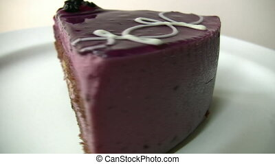 Blackberry Cake Full HD1080p - Yummy cake with blackberry