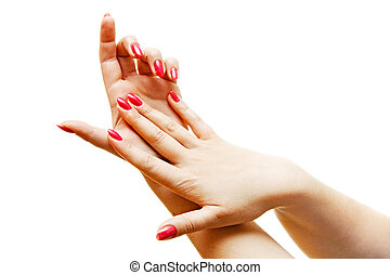 woman hands - care for sensuality woman hands