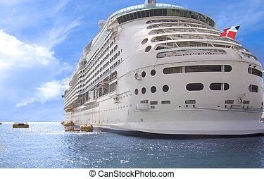 Cruise ship - A cruise ship docked