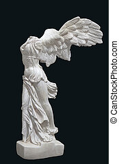 Greek classical statue of 'Nike' from Samothrace or 'Winged...