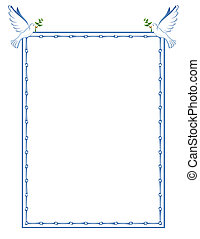 Dove Border - This beautiful dove frame, is perfect for...