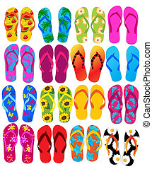 Flip flops - Different flip flops for woman