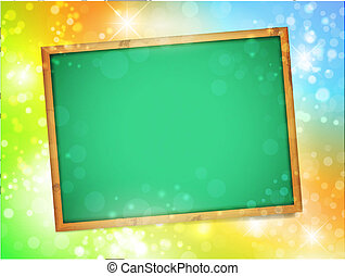 school blackboard - Empty school blackboard over bright...
