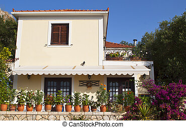 Traditional house at Kefalonia in Greece