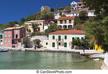 Traditional village of Assos at Kefalonia - Traditional...