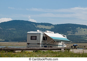 Motor Home - Camping at Eleven Mile Reservoir, Colorado