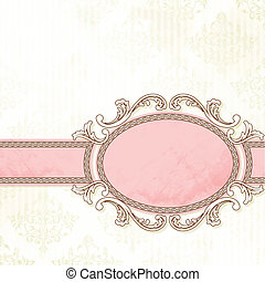 Antique white wedding banner - Grungy, intricate pink and...