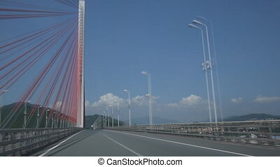 Bridge on the highway - Yanan Bridge on the west coast...