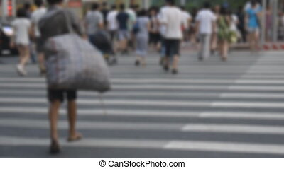 Zebra crossing - Pedestrians across zebra crossing