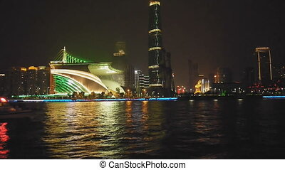 Night scene of Guanghzou city - Night scene of pearl river...