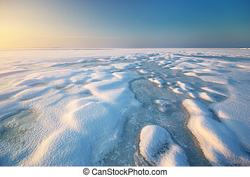 Ice and horizon Composition of nature