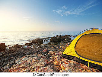 Tent on the sea