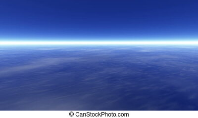 Earth atmosphere - Journey over a earth atmosphere motion...