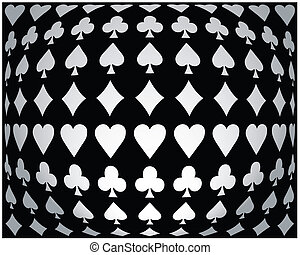 Black-white seamless poker background