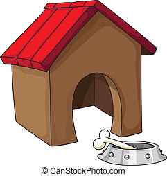 dog house - illustration of a dog house