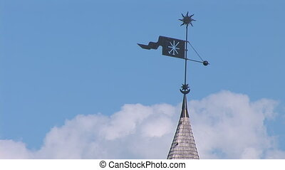fortress kp 10 - spire and weather vane on the tower of the...