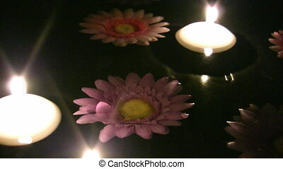 Candles and flower