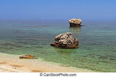 sandrocks, formación,  Kefalonia
