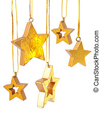 Golden Christmas stars