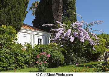 Greek traditional house located at Kourkoumelata village of...