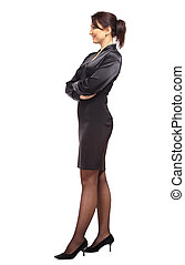Full length image of a business woman posing