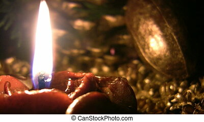 Candle - One candle burning