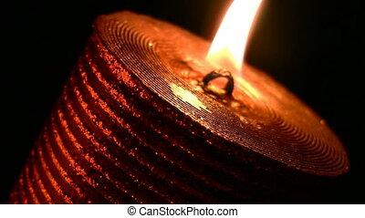 Candle - One candle burning