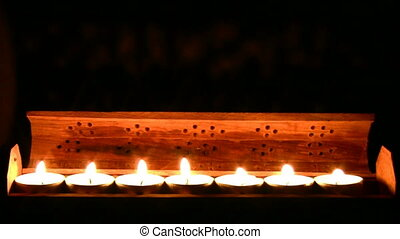 Candles burning
