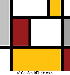 Mondrian style vector background